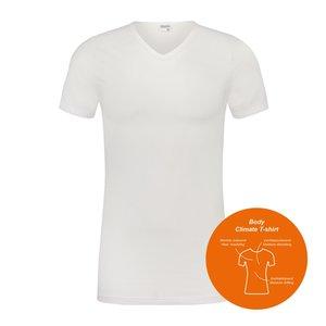 Body Climate T-shirt met V-Hals Wit