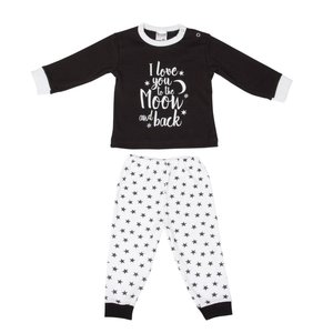 Baby Pyjama Love You Zwart